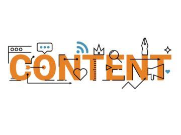 Scritta content arancione - 7 consigli utili per una Facebook Content Strategy di successo - Web Agency Perugia - The Brick House