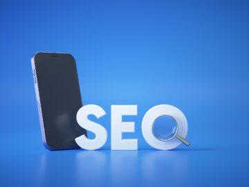 Sfondo blu con scritta SEO e telefono - Gestione link interni: ottimizzazione seo e ux - web Agency Perugia The Brick House