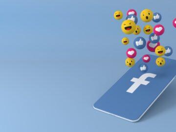 Telefono stilizzato con logo e emoticon facebook - Facebook Getdigital: per un utilizzo più consapevole del web - Web Agency Perugia - The Brick House