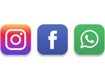 Icone Instagram, Facebook e WhatsApp - Rischio scissione