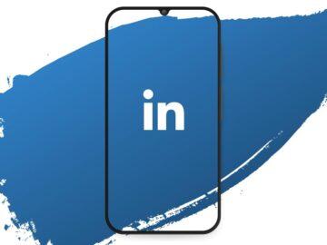 Telefono stilizzato con logo di LinkedIn - Nuove funzionalità per linkedin - web agency perugia - The Brick House